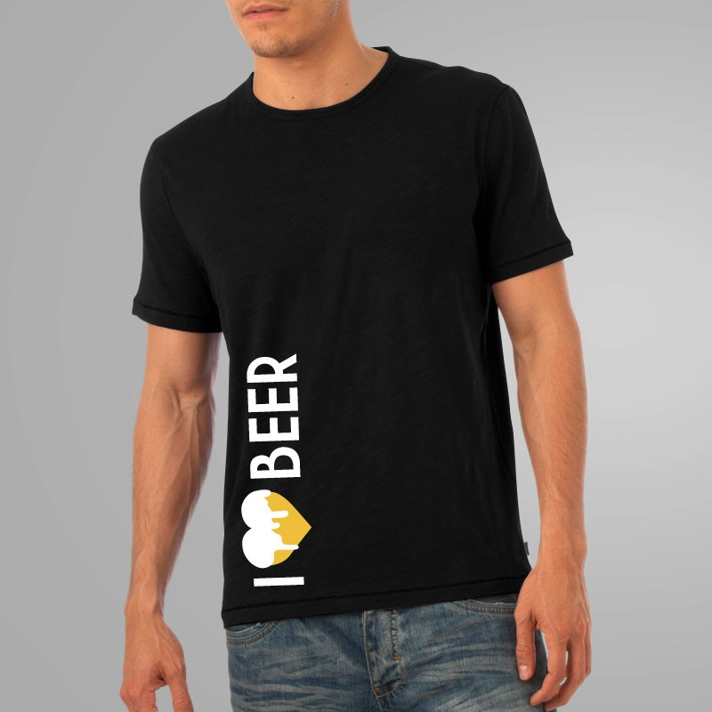 I LOVE BEER - Bier Shirt schwarz